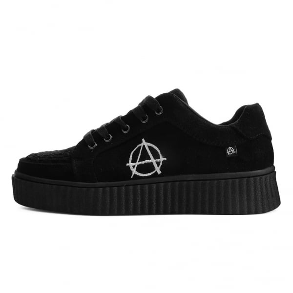 Shoes Black Faux Suede Interlace Anarchic Casbah Creeper From T.U.K